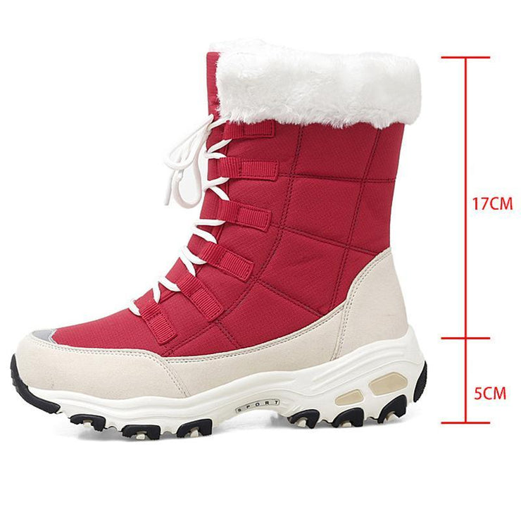 Women's Outdoor Warm Padded Mid Tube Snow Boots
