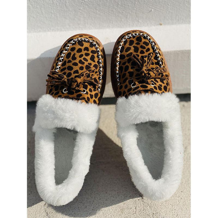 Ladies Winter Flat Plush Casual Shoes