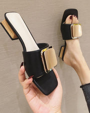 Square Buckle Open Toe Sandals