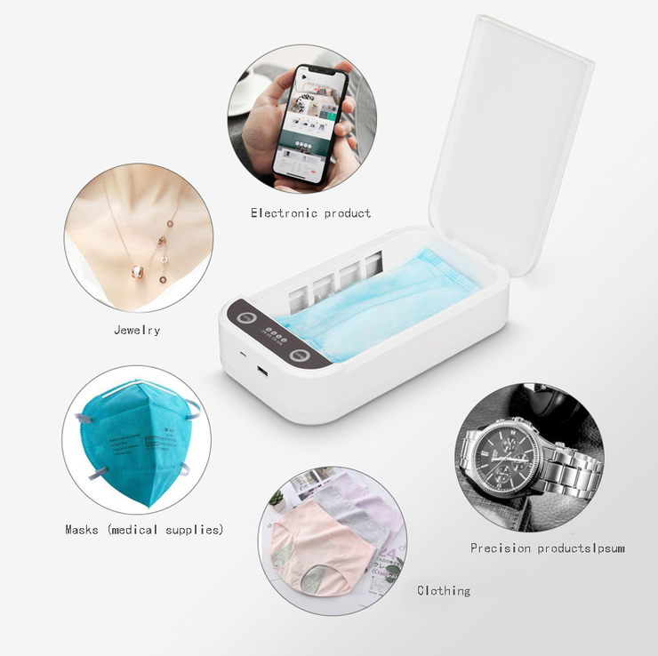 TOTE - PORTABLE UV SANITIZING CASE Delivers 3-minute, chemical-free cleaning cycle, which deactivates up to 99.9% of harmful pathogens (Non-returnable) - ⚠ Level 3 UV