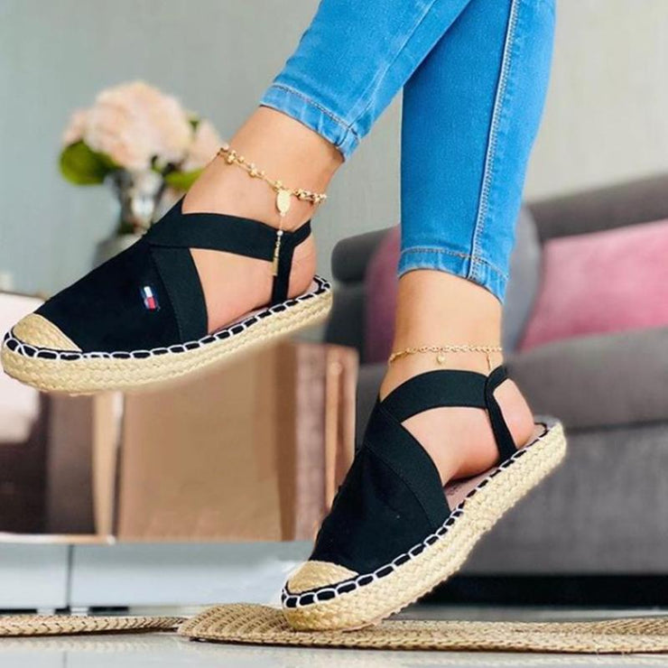 Women's Fashion Canvas Woven Sole Casual Shoes