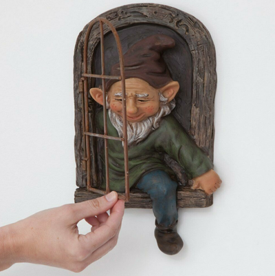 Factory Outlet 40% OFF!! - Gnome Leave The Window,Whimsical Tree Sculpture Garden Decoration