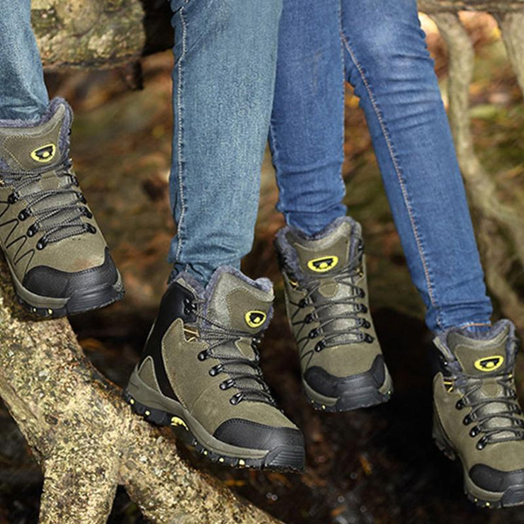 Women's Outdoor Thickened Warm High Top Hiking Shoes