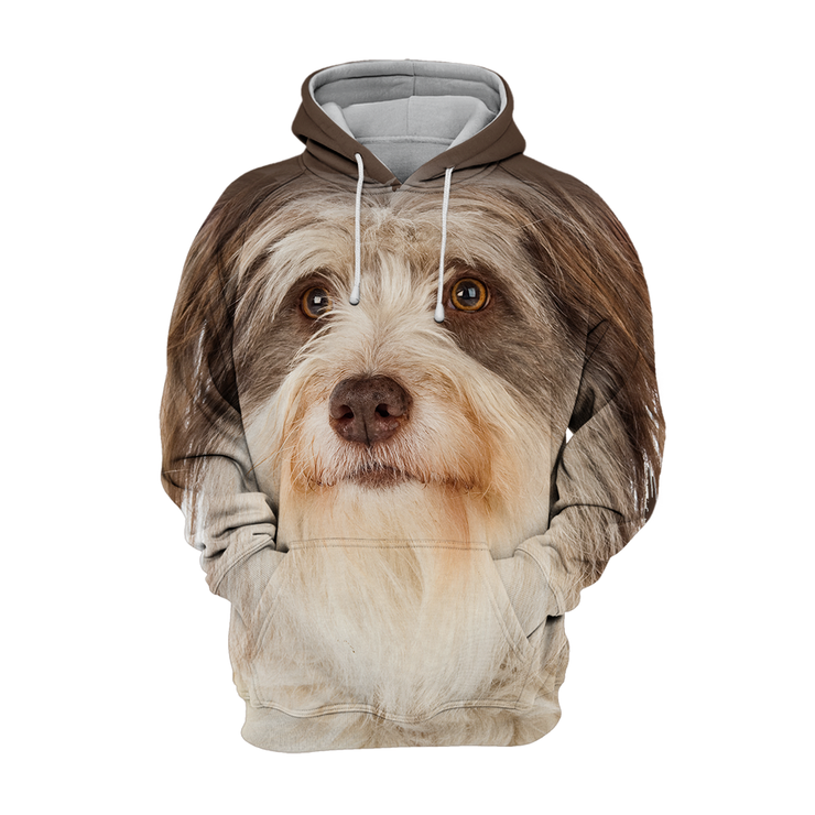 Unisex 3D Graphic Hoodies Animals Dogs Bearded Collie Dog Looking Up