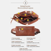 Vintage Multi-Carry Genuine Leather Sling Bag