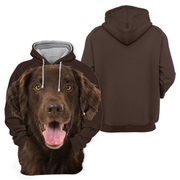 Unisex 3D Graphic Hoodies Animals Dogs Flat Coated Retriever
