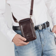 Genuine Leather Multifunctional Waist Bag