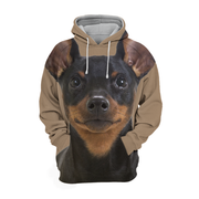Unisex 3D Graphic Hoodies Animals Dogs Miniature Pinscher Puppy