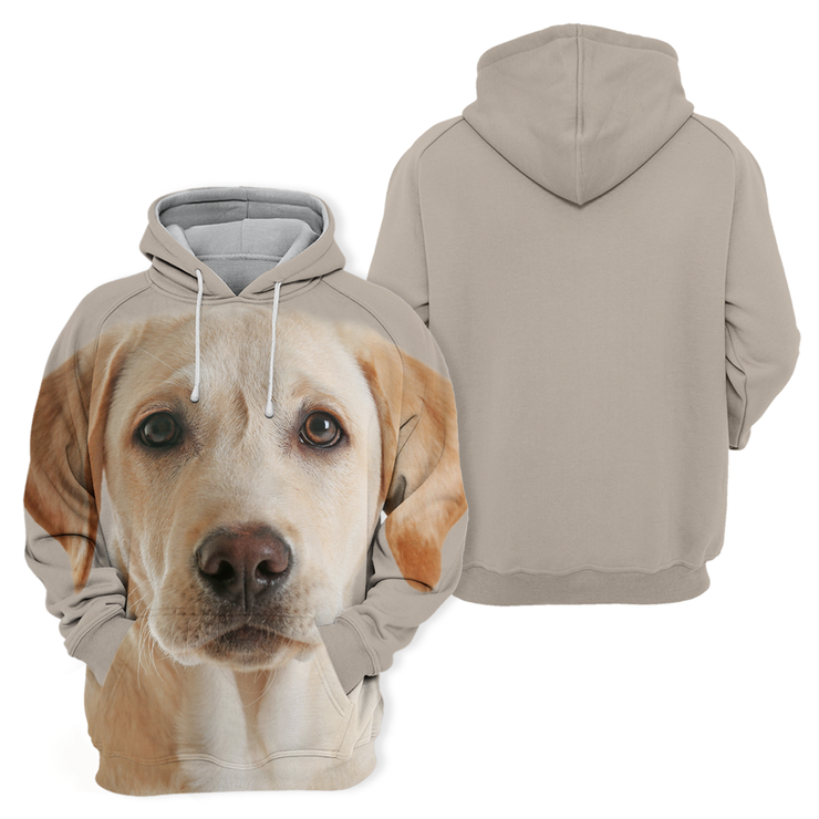 Unisex 3D Graphic Hoodies Animals Dogs Labrador Yellow Cute