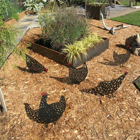 Chicken Yard Art