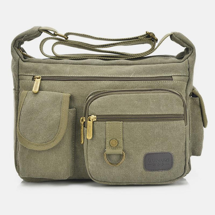 Wear-Resistant Large Capacity Vintage Crossbody Bag
