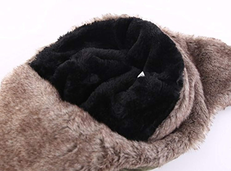 Warm Trapper Hat Windproof Winter Russian Hats with Mask Ushanka Hat