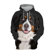 Unisex 3D Graphic Hoodies Animals Dogs Bernese Mountain Smile