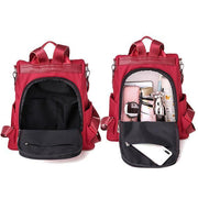 Anti-theft Solid Oxford Waterproof Backpack Travel Shoulder Bag