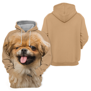 Unisex 3D Graphic Hoodies Animals Dogs Pekinese Cute