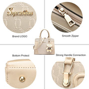Handbag for Women Tote Bag Shoulder Bags Satchel 4pcs Purse Set