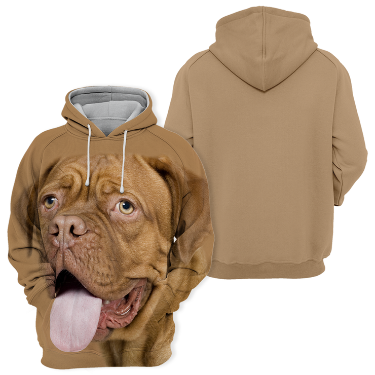 Unisex 3D Graphic Hoodies Animals Dogs Bordeaux Mastiff Happy
