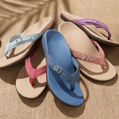 Vionic Thong Sandals with Buckle Detail