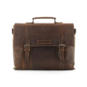 Flash Sale Full Grain Leather Briefcase Men's Handbag Shoulder Messenger Bag Laptop Bag 7035-A