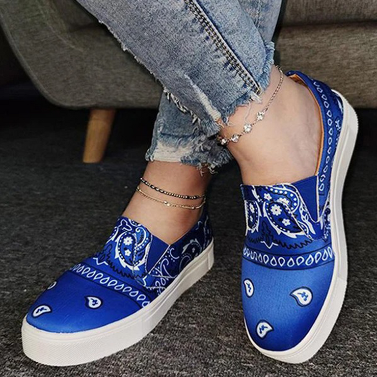 Fashion Slip on Printed Loafers