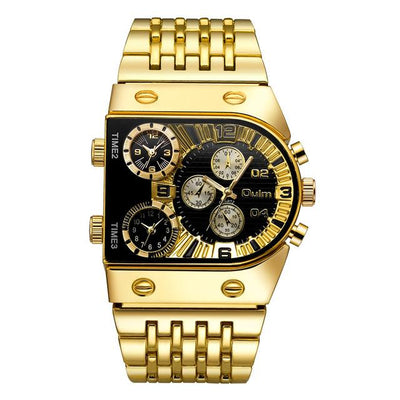 Luxury Gold Stainless Steel Strap Quartz Watch(Get Sunglasses For Free)