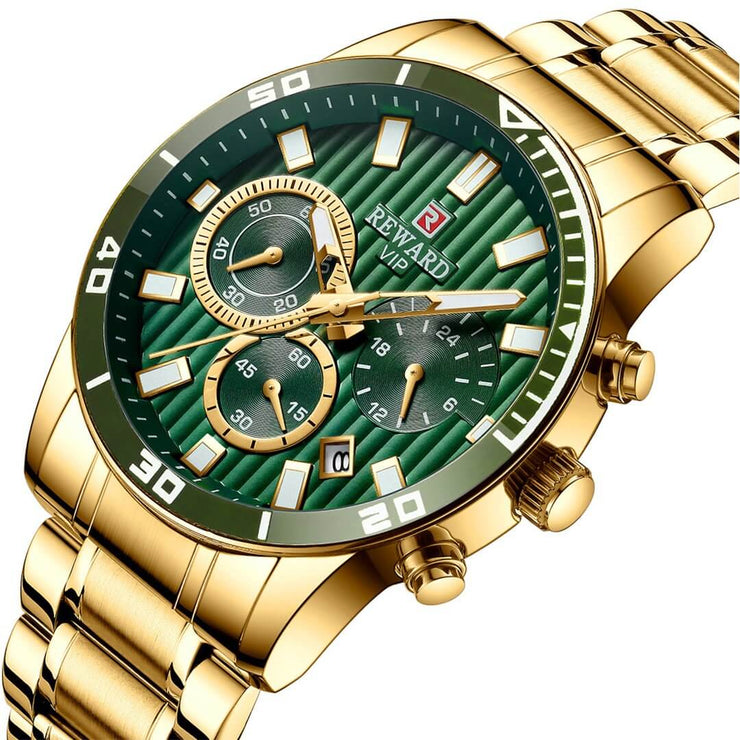 Men Luxury Gold Full Steel Quartz Watch