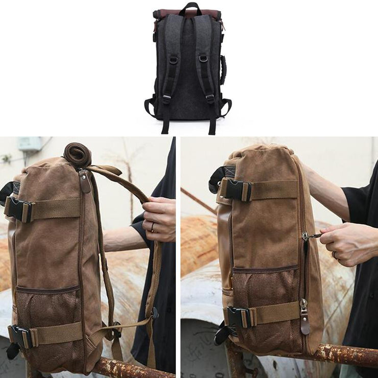 Men Casual Backpack Canvas Travel Backpack School Backpack Laptop Backpack Shoulder Bag P288