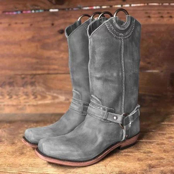 Women's Vintage Harness Boots
