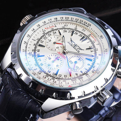 Sport Blue Glass Automatic Watch