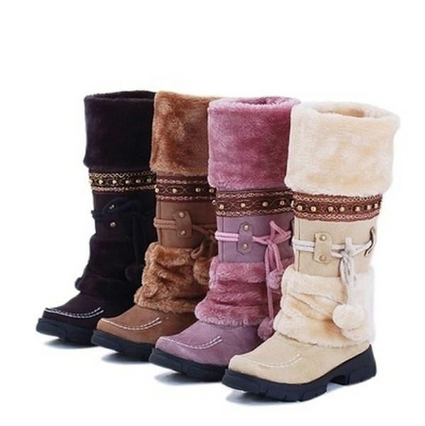 Women Winter Fur Warm Snow Boots