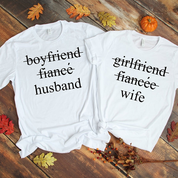 Husband & Wife White Shirts