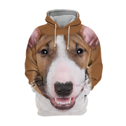 Unisex 3D Graphic Hoodies Animals Dogs Bull Terrier