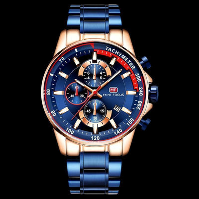 Focus Men's Luxury Quartz Watches Stainless Steel