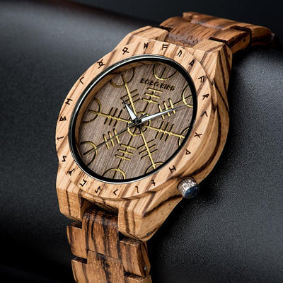 Unique Engrave Wood Luxury Watches