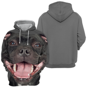 Unisex 3D Graphic Hoodies Animals Dogs Stanffordshire Bull Terrier