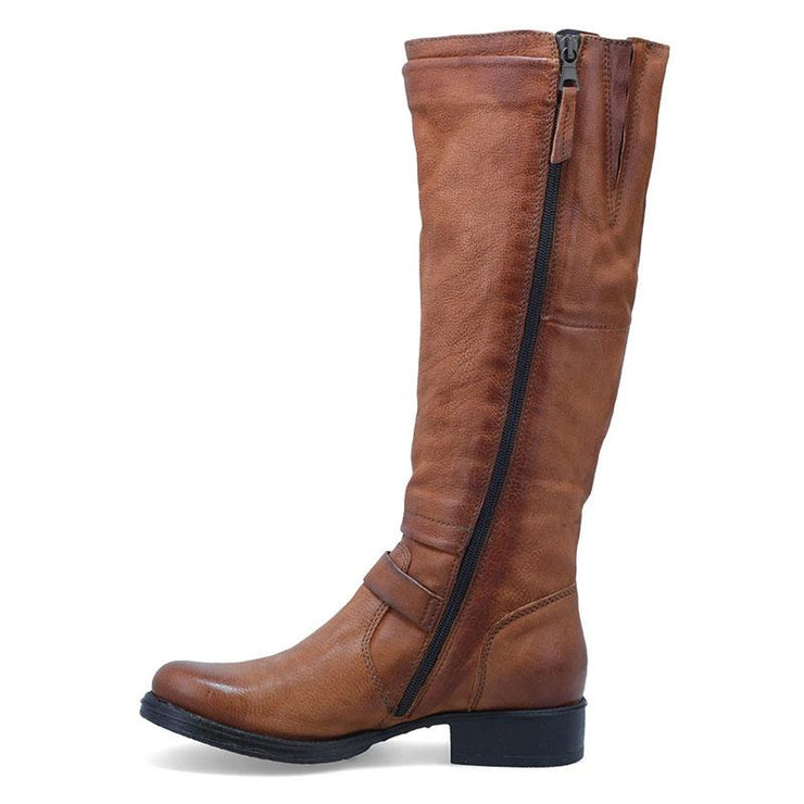 Women Buckle Leather Knight Boots