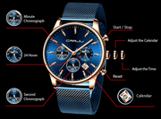 Men's Auto Date Sports Quartz Watches