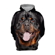 Unisex 3D Graphic Hoodies Animals Dogs Rottweiler Smile