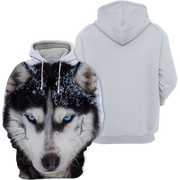 Unisex 3D Graphic Hoodies Animals Dogs Alaskan Husky Snow