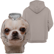 Unisex 3D Graphic Hoodies Animals Dogs Chihuahua Look