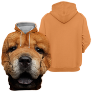 Unisex 3D Graphic Hoodies Animals Dogs Chow Chow Look