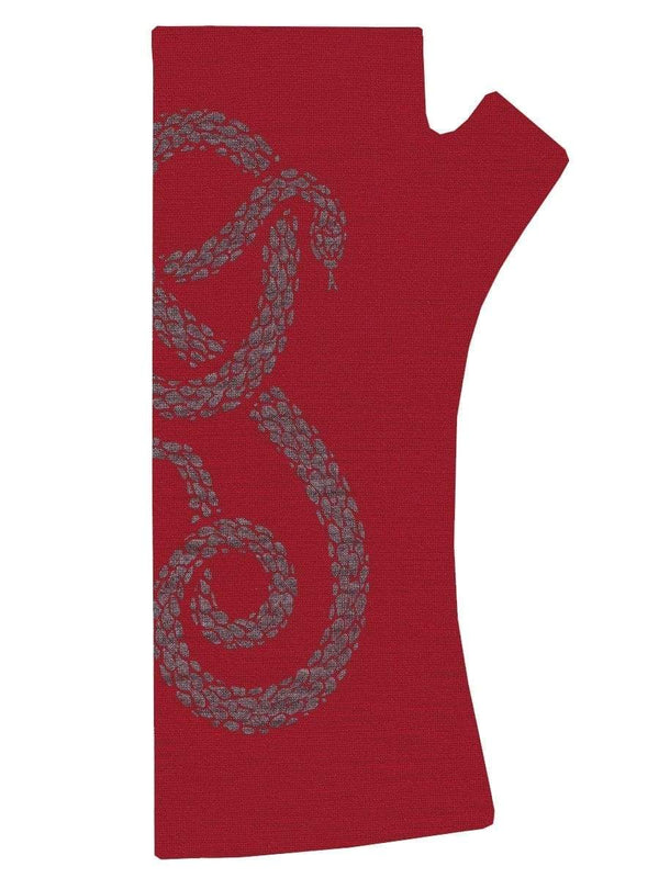 KATE WATTS GLOVES RED SNAKE