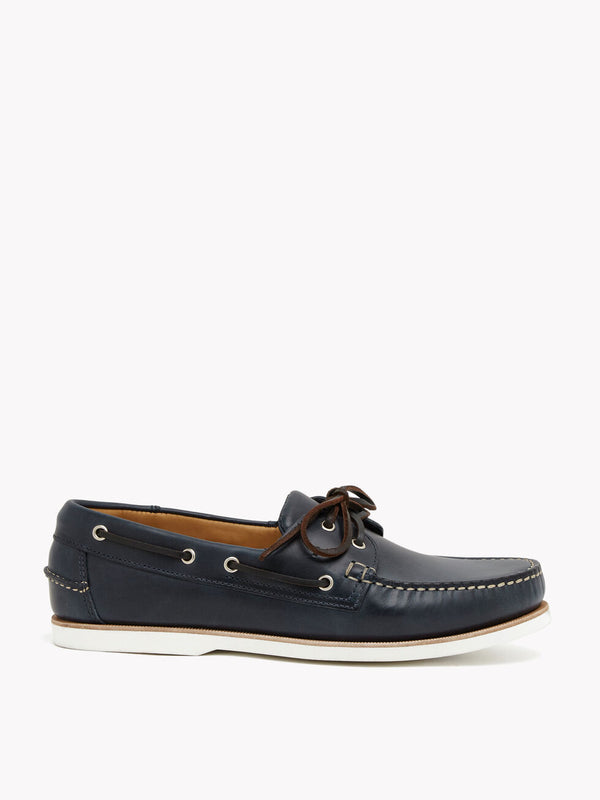 RM WILLIAMS BARHAM NAVY LEATHER