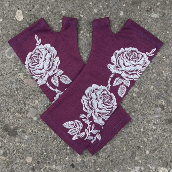 KATE WATTS GLOVES PURPLE ROSE