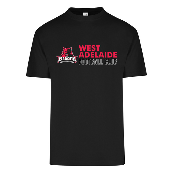 West Adelaide FC | Cotton Tee - Black