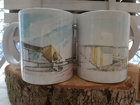 "Lot 2 Mugs Aquarelle ""Monuments du Havre"""