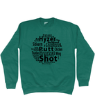 Disc Golf Throws Sweatshirt
