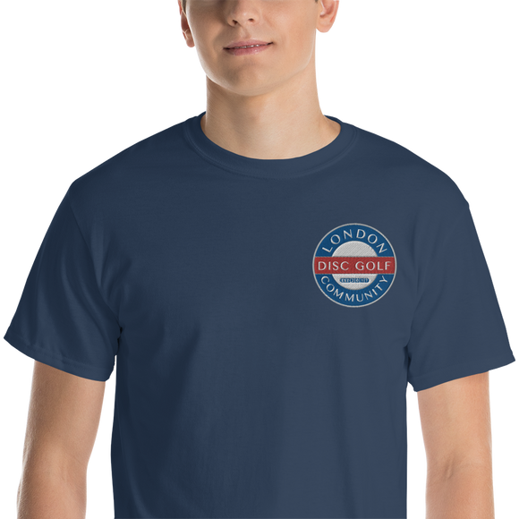 London Disc Golf Community Embroidered T-Shirt