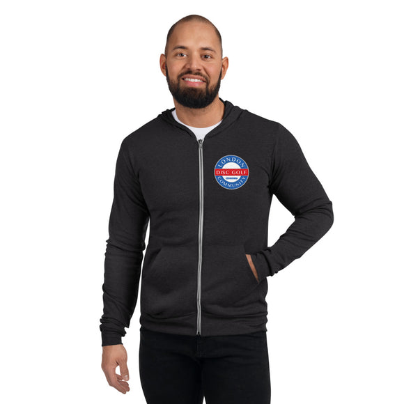 London Disc Golf Community Unisex Zip Hoodie