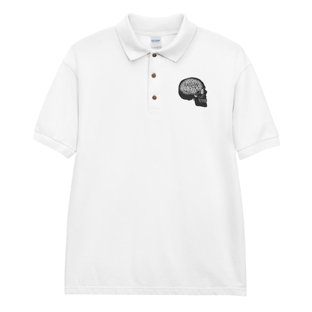 Skull Embroidered Polo Shirt